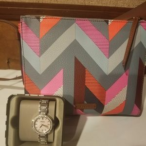 Fossil watch and fossil purse